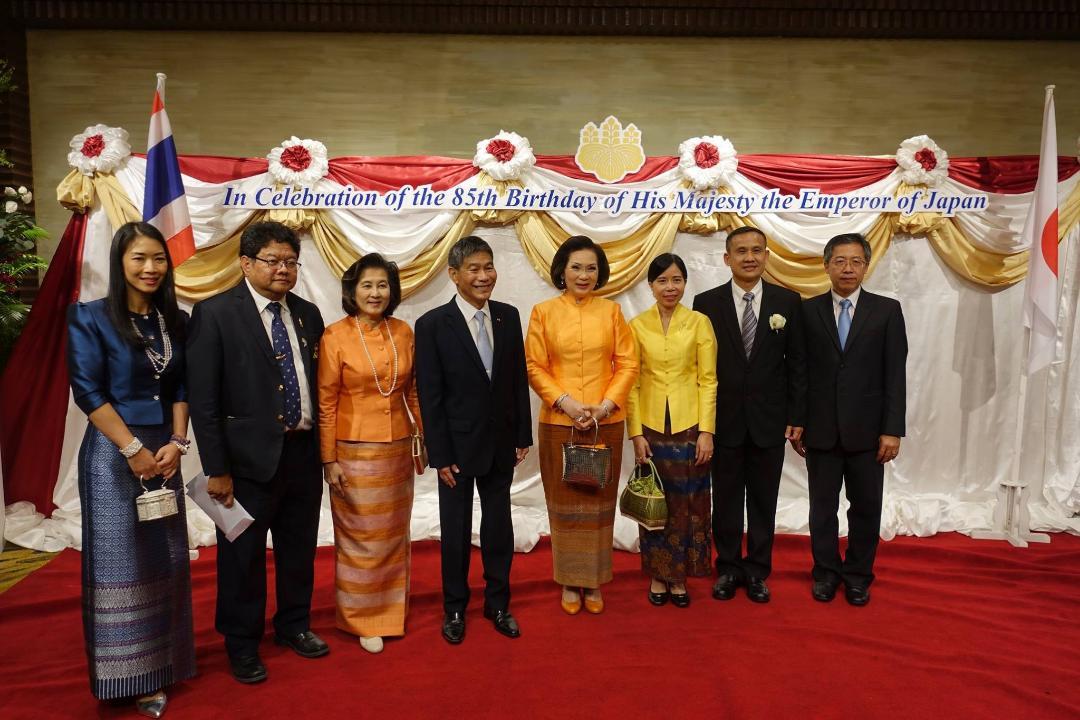 พรรคฯร่วมงานฉลองวันคล้ายวันพระราชสมภพสมเด็จพระจักรพรรดิญี่ปุ่น